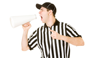 Referee: Ref Yelling With Megaphone