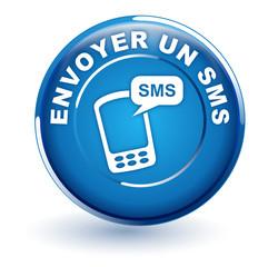 envoyer un sms sur bouton bleu