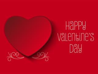 Happy Valentine Day Red Heart