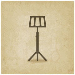 music stand old background