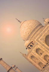 Taj Mahal, landmark of Agra  - India