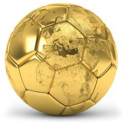 goldener Fussball Globus