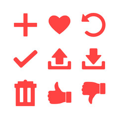 Set of Icons for Web Site