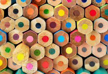 Multi-colored pencils background