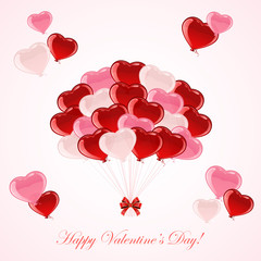 Colorful Valentines balloons