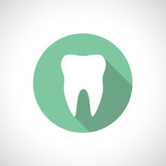 Tooth icon with shadow.