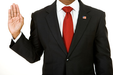 Politician: Anonymous Policitician Gives Oath