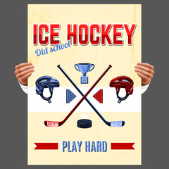 Ice Hockey Poster