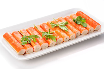 crab sticks with parsley