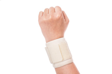 Orthopedic wrist band. Sports injuries.