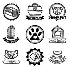 Veterinary Emblems Set