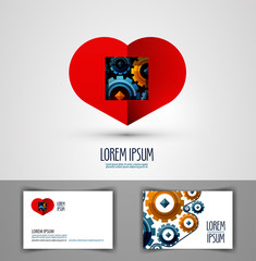 heart vector logo design template. love or health icon.