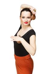 Flamenco dancer with castanets