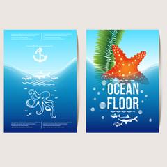 ocean floor (flyer, poster, banner)