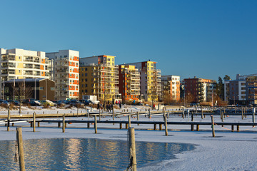 Modern apartment in the city Vasteras, Sweden.