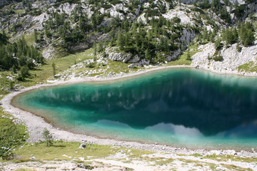 Clear lake in the Alps