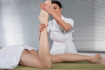 Massage cheville et pied