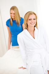 Massage: Massage Patient with Therapist Behind
