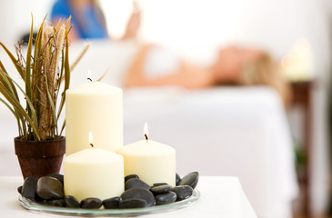Massage: Focus on Spa Candles