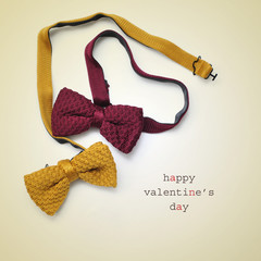 bow ties and text happy valentines day