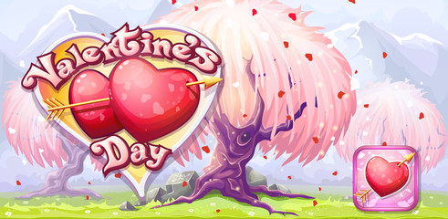 Banner for Valentines Day