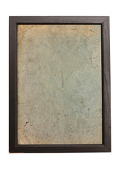 Old paper texture background in wooden frame