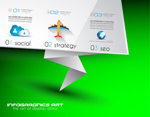 Origami Flat style flyer design or Brochure template