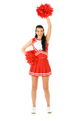 Cheerleader: Cheering with Pom Poms