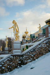 Grand Cascade in Peterhof, Russia