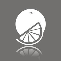 Icono naranja FO reflejo