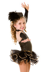 Dance: Girl Tap Dancer in Fancy Costume