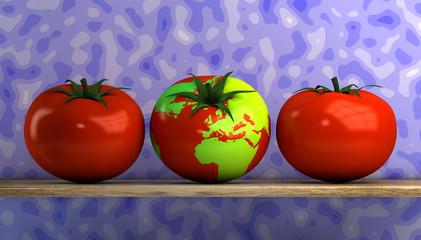 world map tomato