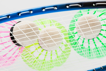 colorful shuttlecocks for badminton
