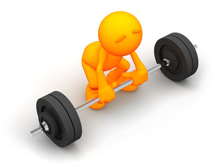 3d Guy: Attempting to Lift Barbell