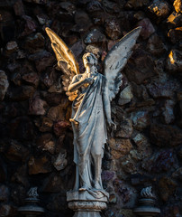 Angel statue on Montjuic Cemetery