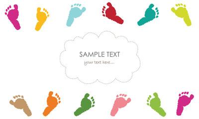 Baby foot prints greeting card