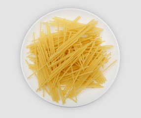 spaghetti on a white plate