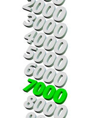 yeşil 7000