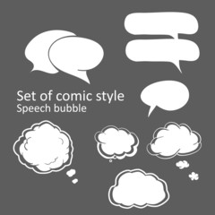White speech bubbles cartoon