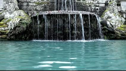 Detail Of The Giants Fountain Villa Lante Bagnaia Italy