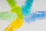 transparente Kunststoffgranulate