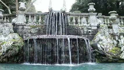 The Giants Fountain In Villa Lante Garden