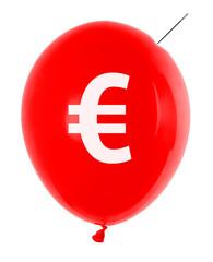 balloon with euro symbol