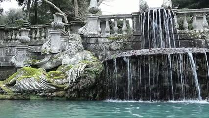 Arno River Personification In Fountain Of The Giants Villa Lante