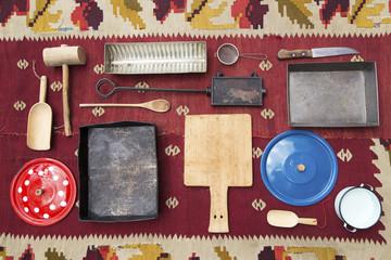 Vintage kitchen utensills