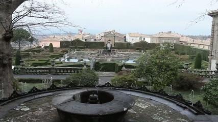 View Above Gardens Of Villa Lante Bagnaia Italy