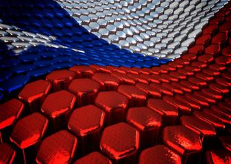 Chilean background  theme - 3D render