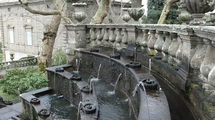 Fountain Of The Lamps Detail Villa Lante Bagnaia Italy