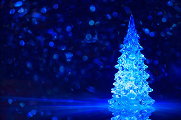 Toy Christmas tree background