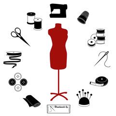 Sewing, Tailoring Icons, Fashion model mannequin, DIY circle